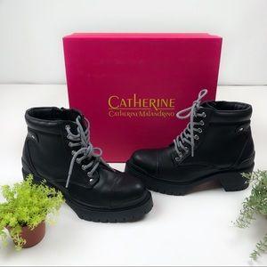 NEW Catherine Malandrino Mendia Combat Lace Boots